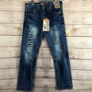 Rugby Road Denim Destressed/Destroyed Jeans sz 12